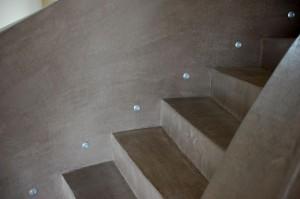 """""""enduit béton"""" en escalier"""
